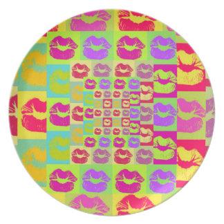 Sassy Lips POP Art Melamine Plate