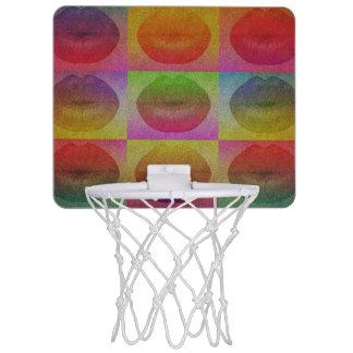 Sassy Lips pop Art  Mini Basketball Hoops