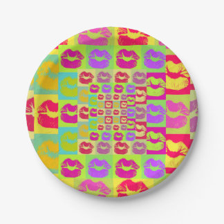 Sassy Lips POP Art Paper Plate