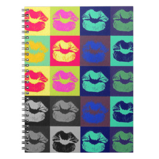 Sassy Lips Tri Colors Notebook