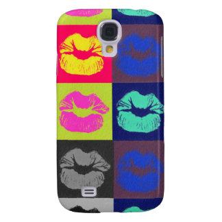 Sassy Lips Tri Colors Samsung S4 Case