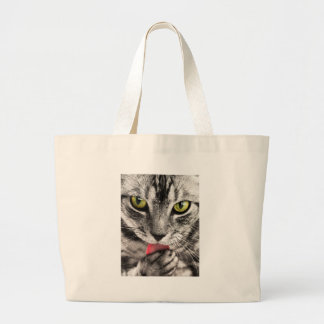 Sassy Little Cat - Flirty Kitty Large Tote Bag