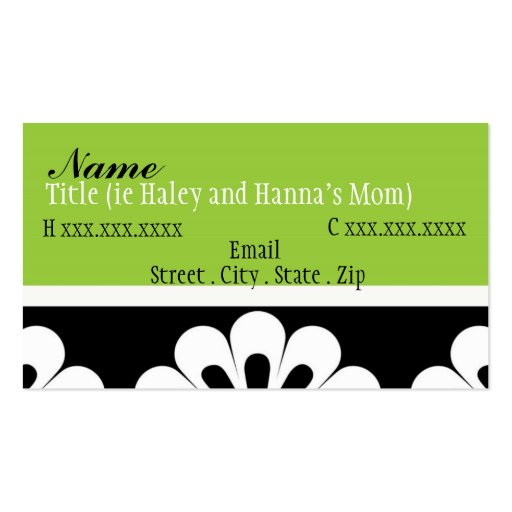 Sassy mom mommy card business card zazzle for Mommy business cards
