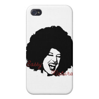 Sassy Naturals Afro girl iPhone4 cover iPhone 4 Cases