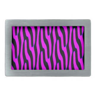 Sassy Neon Pink Wild Animal Print Rectangular Belt Buckles
