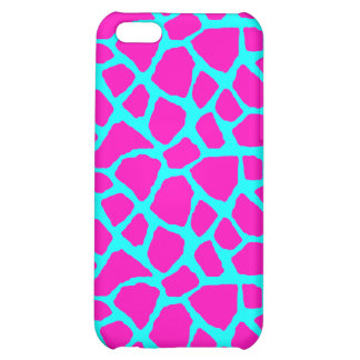 Sassy Pink and Blue Giraffe Print iPhone Case iPhone 5C Cover