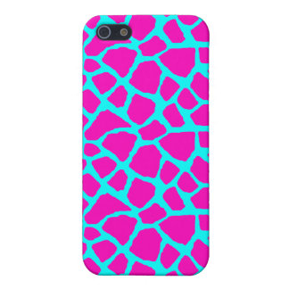 Sassy Pink and Blue Giraffe Print iPhone Case iPhone 5 Covers