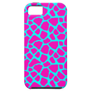 Sassy Pink and Blue Giraffe Print iPhone Case iPhone 5 Cover
