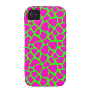 Sassy Pink and Green Giraffe Print iPhone Case iPhone 4 Covers