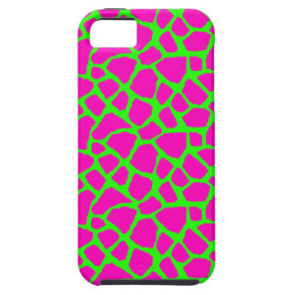 Sassy Pink and Green Giraffe Print iPhone Case iPhone 5 Cases