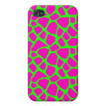 Sassy Pink and Green Giraffe Print iPhone Case iPhone 4 Case