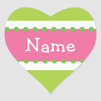 Sassy Pink and Green Personalized Sticker