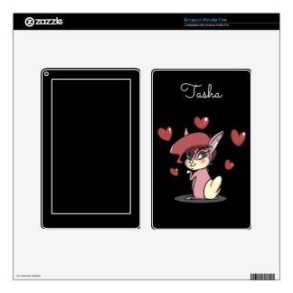 Sassy Pink Bunny Amazon Kindle Fire Skin