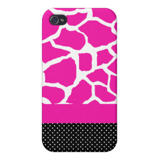 Sassy Pink Giraffe Print iPhone Case Case For iPhone 4