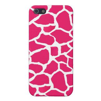 Sassy Pink Giraffe Print iPhone Case iPhone 5 Case