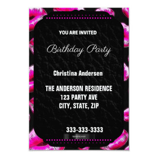 Sassy Pink Lips Birthday Card