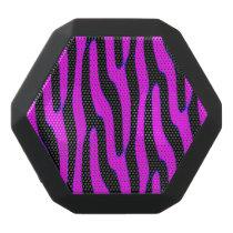 Sassy Pink Wild Animal Print Black Bluetooth Speaker