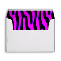 Sassy Pink Wild Animal Print Envelope
