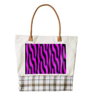 Sassy Pink Wild Animal Print Zazzle HEART Tote Bag