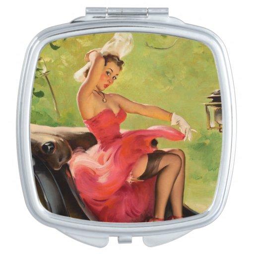 Sassy Pinup Compact Mirror Travel Mirror