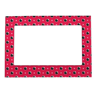 Sassy Polka Dot Magnetic Frame - Berry Pink