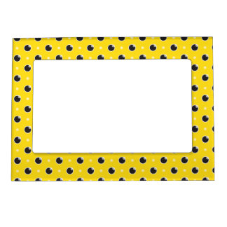 Sassy Polka Dot Magnetic Frame - Yellow