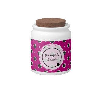 Sassy Polka Dots Candy Jar - Purple