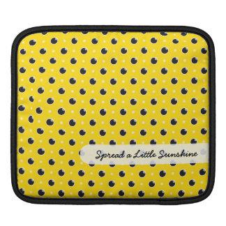 Sassy Polka Dots iPad/ iPad 2 Sleeve - Yellow