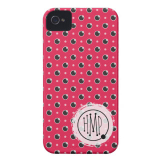 Sassy Polka Dots iPhone 4 Barely There - Pink iPhone 4 Case-Mate Cases