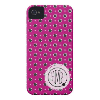 Sassy Polka Dots iPhone 4 Barely There - Purple iPhone 4 Case
