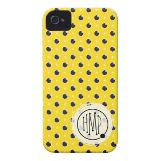 Sassy Polka Dots iPhone 4 Barely There - Yellow iPhone 4 Cases