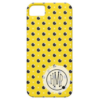 Sassy Polka Dots iPhone 5 Barely There - Yellow iPhone SE/5/5s Case