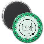 Sassy Polka Dots Laugh Magnet - Green