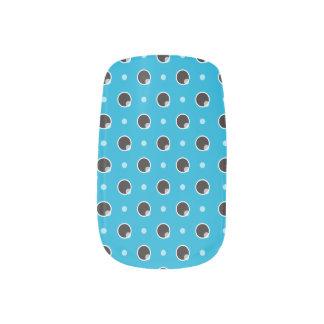 Sassy Polka Dots Minx Nails - Aqua Blue Minx ® Nail Wraps