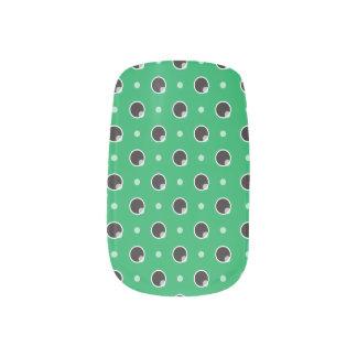 Sassy Polka Dots Minx Nails - Green Minx ® Nail Wraps