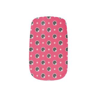 Sassy Polka Dots Minx Nails - Pink Minx ® Nail Art