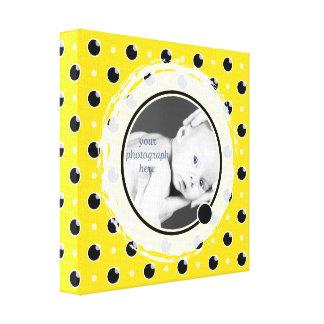 Sassy Polka Dots Photo Mat Canvas - Yellow