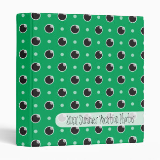 Sassy Polka Dots Photograph Album Binder - Green