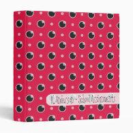 Sassy Polka Dots School Binder - Berry Pink