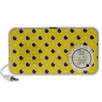 "Sassy Polka Dots ""Sing Along"" Speaker - Yellow"