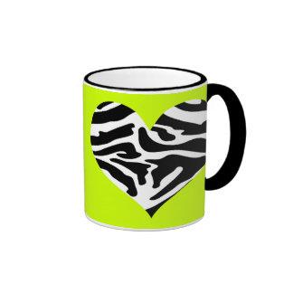Sassy Posh Lime  & Zebra Heart Mug
