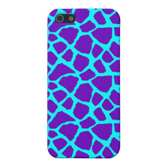 Sassy Purple and Blue Giraffe Print iPhone Case Cases For iPhone 5