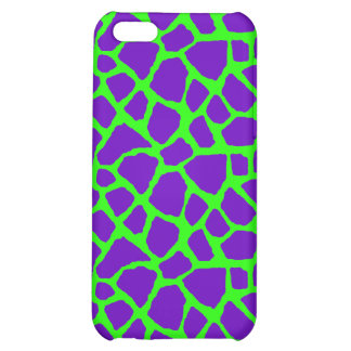 Sassy Purple and Lime Giraffe Print iPhone Case iPhone 5C Cases