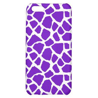 Sassy Purple Giraffe Print iPhone Case iPhone 5C Cover