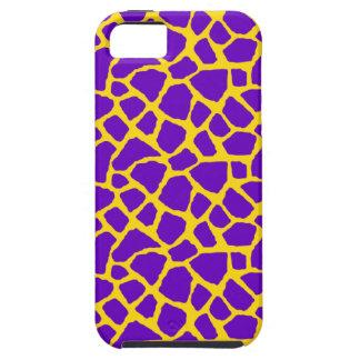 Sassy Purple Giraffe Print iPhone Case iPhone 5 Cover