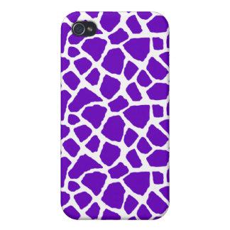 Sassy Purple Giraffe Print iPhone Case iPhone 4 Case