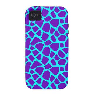 Sassy Purple Giraffe Print iPhone Case iPhone 4 Cases
