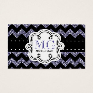 Sassy Purple Glitter Look Ladies Any Profession Business Card