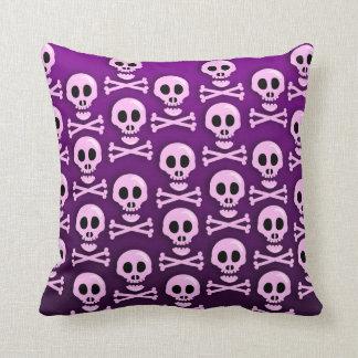 Sassy Purple Skull Pillow