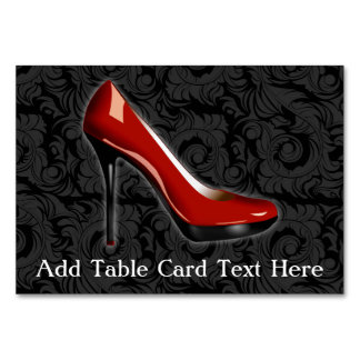 Sassy Red Shoe Card